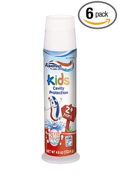3. Aquafresh Kids Pump Toothpaste