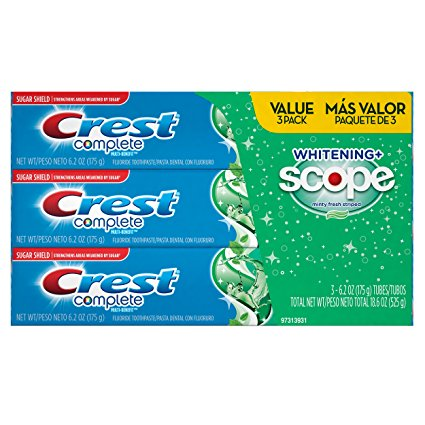 4. Crest Complete Whitening Plus Scope Toothpaste