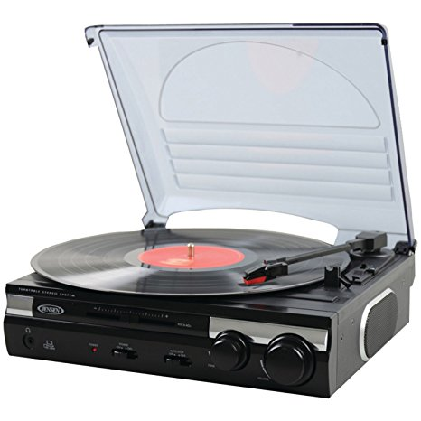 Jensen JTA-230 3 Speed Stereo Turntable with Built-in Speakers Review
