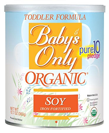 9. Baby's Only Organic Toddler Formula, OG2, Soy, Kosher 12.7 Ounce Pack of 6