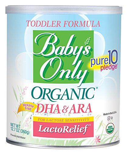 2. Baby's Only Organic LactoRelief with DHA & ARA Toddler Formula