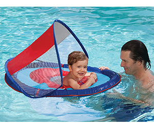 8. SwimWays Baby Float Sun Canopy Review (Blue Sailboat)