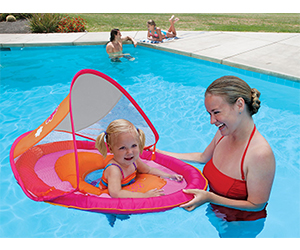 7. SwimWays Baby Float Sun Canopy Review (Pink Butterfly)