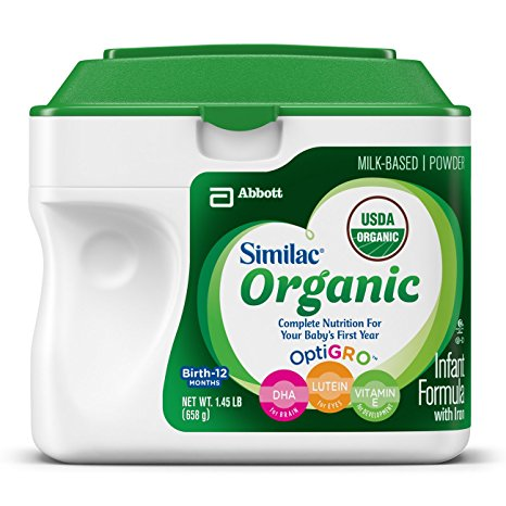6. Similac Organic Infant Formula with Iron, USDA Certified Organic,Baby Formula, Powder, 1.45 lb