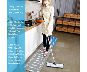 "8. JINCLEAN 18"" Microfiber Floor Mop Review"
