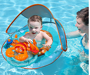 4. SwimWays Baby Float Activity Center Review (Lobster)