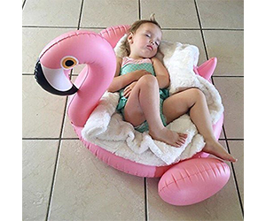 10. pfloat Flamingo Inflatable Baby Swimming Float Review