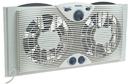 4. Holmes Twin Window Fan with Comfort Control Thermostat Review