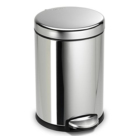 simplehuman 4.5L/1.2Gal Stainless Steel Trash Can Review
