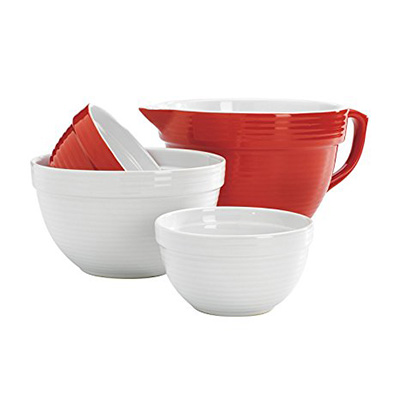 Anchor Hocking Red/White Ceramic Mixing Bowl Review