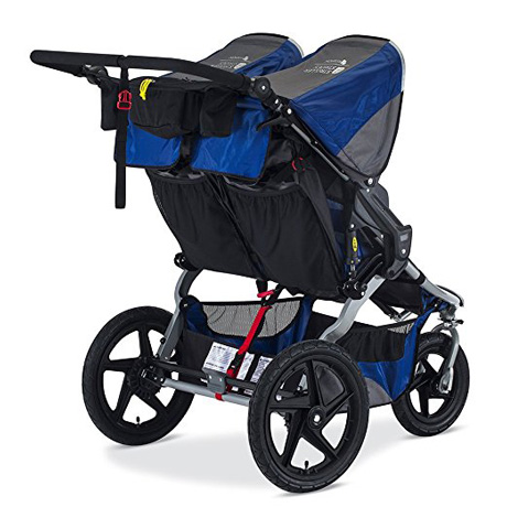 BOB Blue 2016 Jogging Stroller Review (Fitness Duallie)