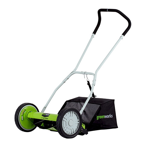 GreenWorks 16-Inch Lawn Mower with Grass Catcher 25052 Review