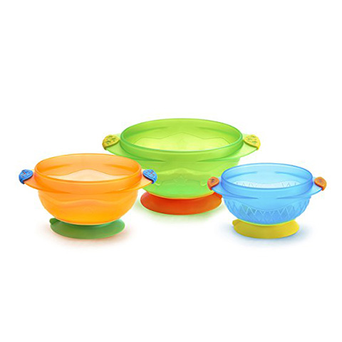 Munchkin 3 Count Stay Put Suction Bowl Review