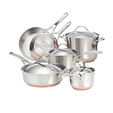Anolon 10-Piece Copper Cookware Set Review