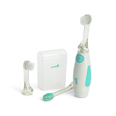 Summer Infant Teal/White Gentle Vibrations Toothbrush Review