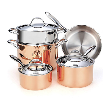 Cooks Standard 8-Piece Copper Cookware Set Review (NC-00389)
