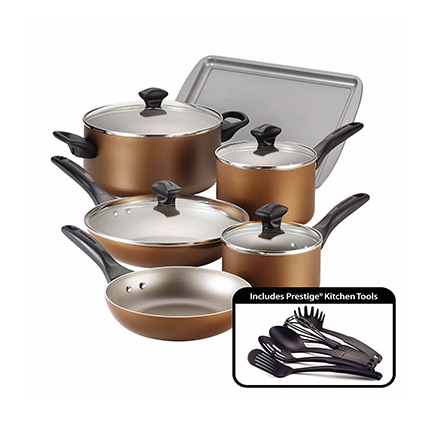 Farberware 15-Piece Copper Cookware Set Review