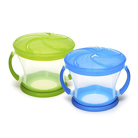 Munchkin Blue/Green Snack Catcher Review (2 Piece)