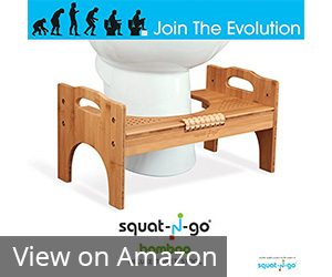 Squat N Go Adjustable Bamboo Luxury Squatting Toilet Stool Review