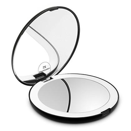 Herwiss Lighted Travel Makeup Mirror Review