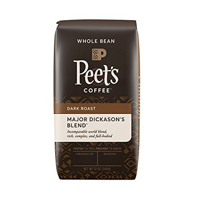 Peet's Coffee Major Dickson's Whole Bean Coffee Blend Review