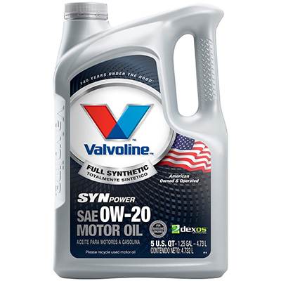 Valvoline 813460 SynPower Synthetic Motor Oil (0W-20)