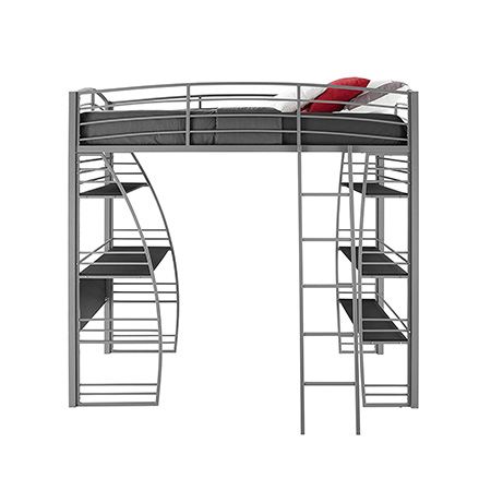 5. DHP Twin Loft Bunk Bed (Gray)