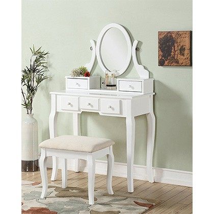 8. Roundhill Furniture Vanity Table Set