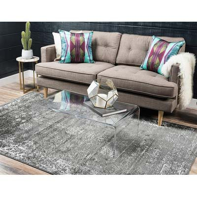Unique Loom Vintage Dark Gray Area Rug