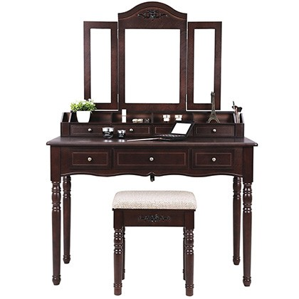 10. SONGMICS Vanity Table Set (URDT06Z)