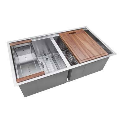 10. Ruvati RVH8350 Double Bowl Undermount Kitchen Sink