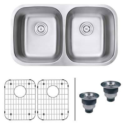 4. Ruvati RVM4300 Undermount Double Bowl Kitchen Sink