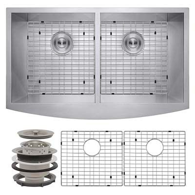3. Perfetto Kitchen and Bath Undermount Double Bowl Kitchen Sink