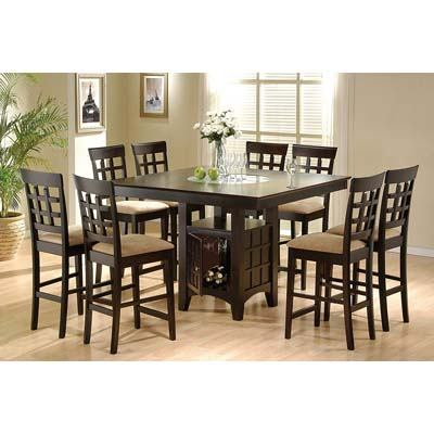 9. Coaster Home Furnishings 9 Piece Counter Height Storage Dining Table Set