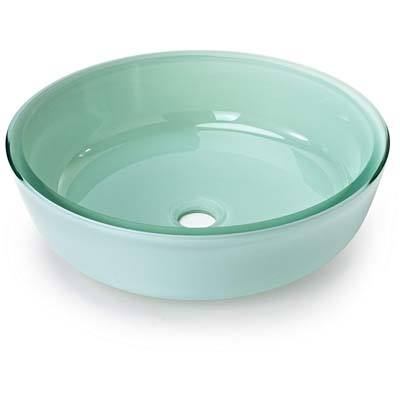 Miligore Round Tub Sink-Frosted Bowl