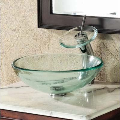 Elite Clear Glass Sink Bowl