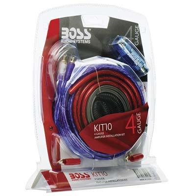 6. BOSS Audio KIT10 4 Gauge Amplifier Wiring Kit