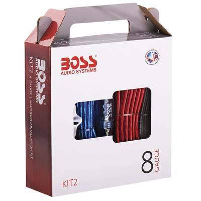 2. BOSS Audio KIT2 8 Gauge Amplifier Installation Wiring Kit