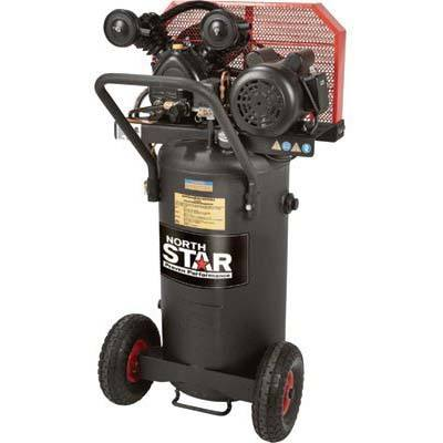 4. NorthStar Belt Drive Single-Stage 20 Gallon Portable Air Compressor