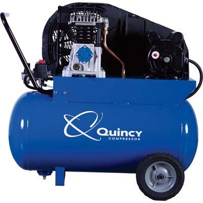 3. Quincy Single-Stage 20 Gallon Horizontal Tank Air Compressor