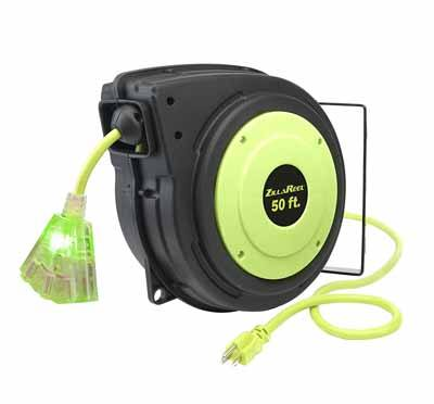 1. Flexzilla ZillaReel 50 foot, Retractible Extension Cord Reel Review