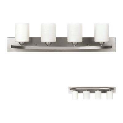 HowPlumb Brushed Nickel 4 Globe Vanity Bath Light Bar Review