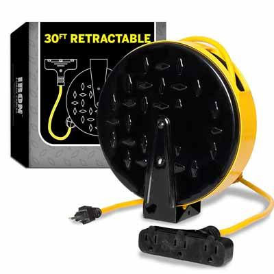2. Iron Forge 30 Foot, Retractable Extension Cord Reel Review
