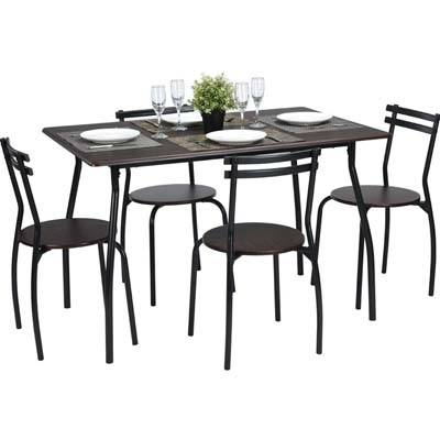 3. Coavas 5pcs Dining Table Set