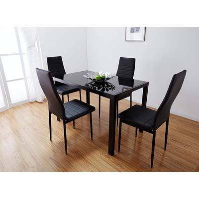 4. Bonnlo Modern 5 Pieces Dining Table Set