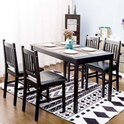 9. Harper&Bright Designs 4 Person Dining Table Set