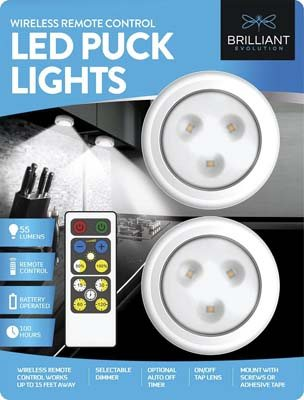 7. Brilliant Evolution LED Puck Light - 2 Pack