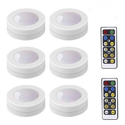 1. LEDERA Wireless LED Puck Lights - 6 Pack