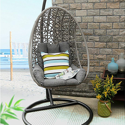2. Baner Garden X25 Oval Egg Hanging Chair