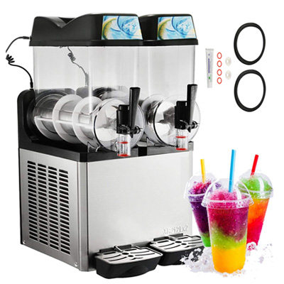 9. Happybuy 110V Margarita Maker Frozen Drink Machine (12L x 2 Tank)
